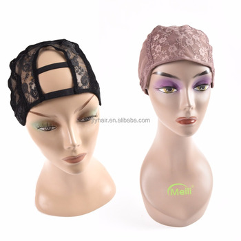 Adjustable Weaving Cap For Wig Making, Double Layer Lace Wig Caps For Sale, Black Hairnet Nylon Wig Cap