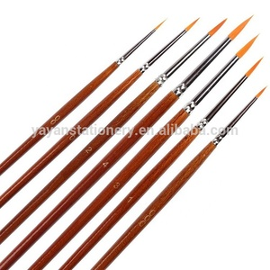 New Arrival 7pcs/set Pointed Round Acrylic Artist Paint Brushes Custom Paintbrushes for Studio