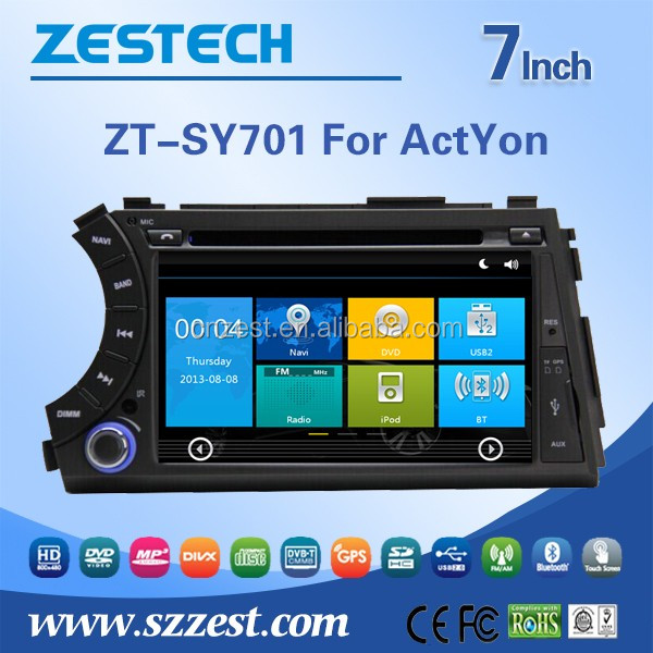 For Ssangyong Kyron/Actyon sports/Korando 2005 2006 2007 2008 2009 2010 2011 2012 2013 pioneer car audio with car multimedia