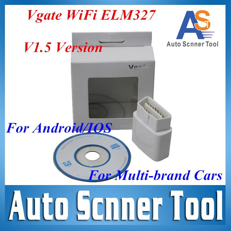 2016 новое поступление Vgate wi-fi ELM327 беспроводной OBD2 автоматический сканер для Android PC IOS OBD2 Muliscan ELM 327