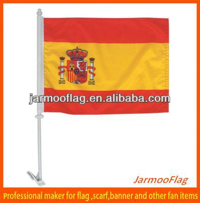 polyester OEM Spanish car flag