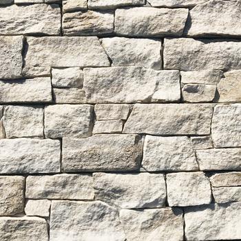 Naturliche Weiss Mica Schiefer Wand Backstein Quarzstein Veneers