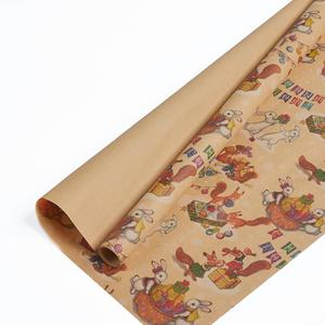 Custom gift kraft flower wrapping paper packaging wrapping paper in india