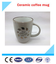 Top quality China factory cheap ceramic cups, China manufacturer ceramic coffee mugs with handle as birthday gift