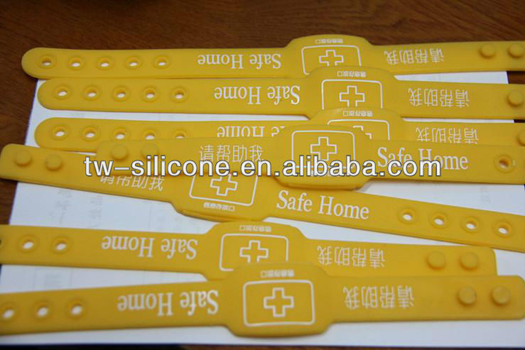Lost Person Silicone Yellow Wristband
