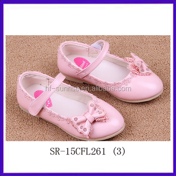 Sr-15cfl261 (3) New Stylish Girls Shoes Fashion Bowknot Pink Girls ...
