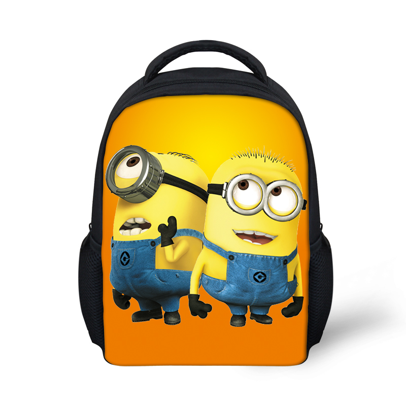 Get Quotations · Cute Yellow Minions School Bags for Boys Girls 3D Cartoon  Despicable Me Backpack Children Mini Schoolbag 63963060cd4dd