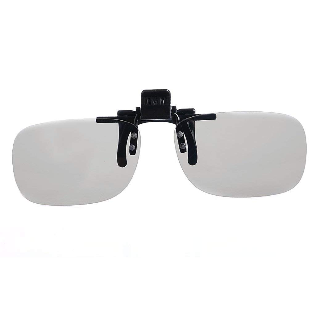GaopaiCo 1 Pair Clip On Type Passive Circular Polarized 3D Glasses Clips for 3D TV Movie