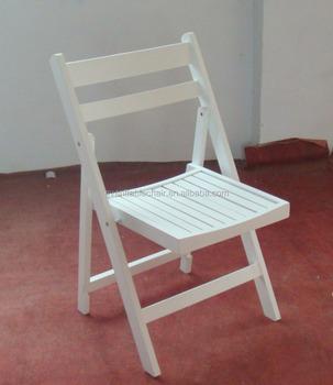 Sedie In Legno Pieghevoli Usate.Usato All Aperto Imbottito Stecca Di Legno Sedie Pieghevoli In