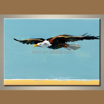 Famous Handmade Pop Eagle Painting By Artist - Buy Eagle Oil ...