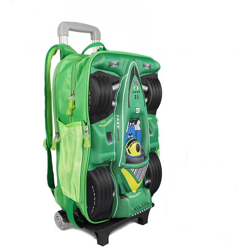 cartoon kids school trolley bag school bag with stair climbing wheels