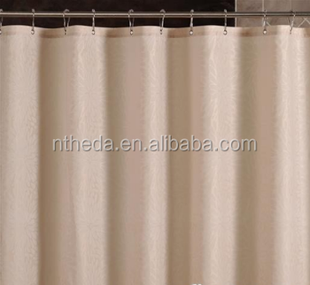 WHITE PVC HOTEL BATH SHOWER CURTAIN
