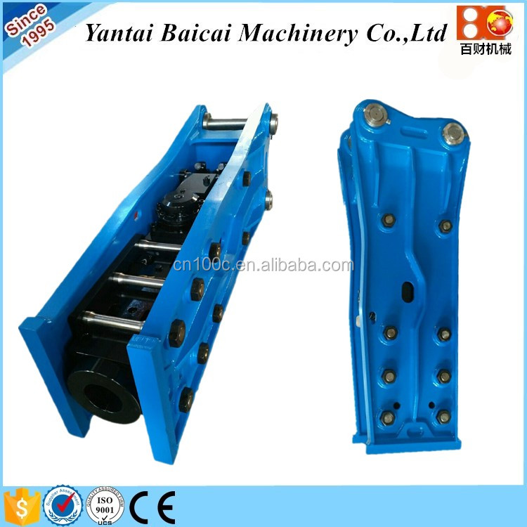 Hydraulic Excavator Rock Breaking Hammer is used in Quarry for breaking