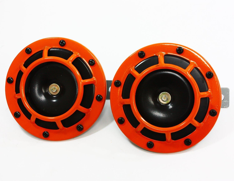 Baoblaze 12V 115DB Chrome Car Horn Grill Mount Compact Super Loud Blast Tone 320//430Hz 2Pieces