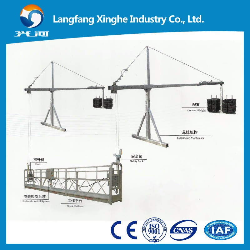 Aerial working platform , steel structure gondola , suspended hanging scaffolding , electric cradle
