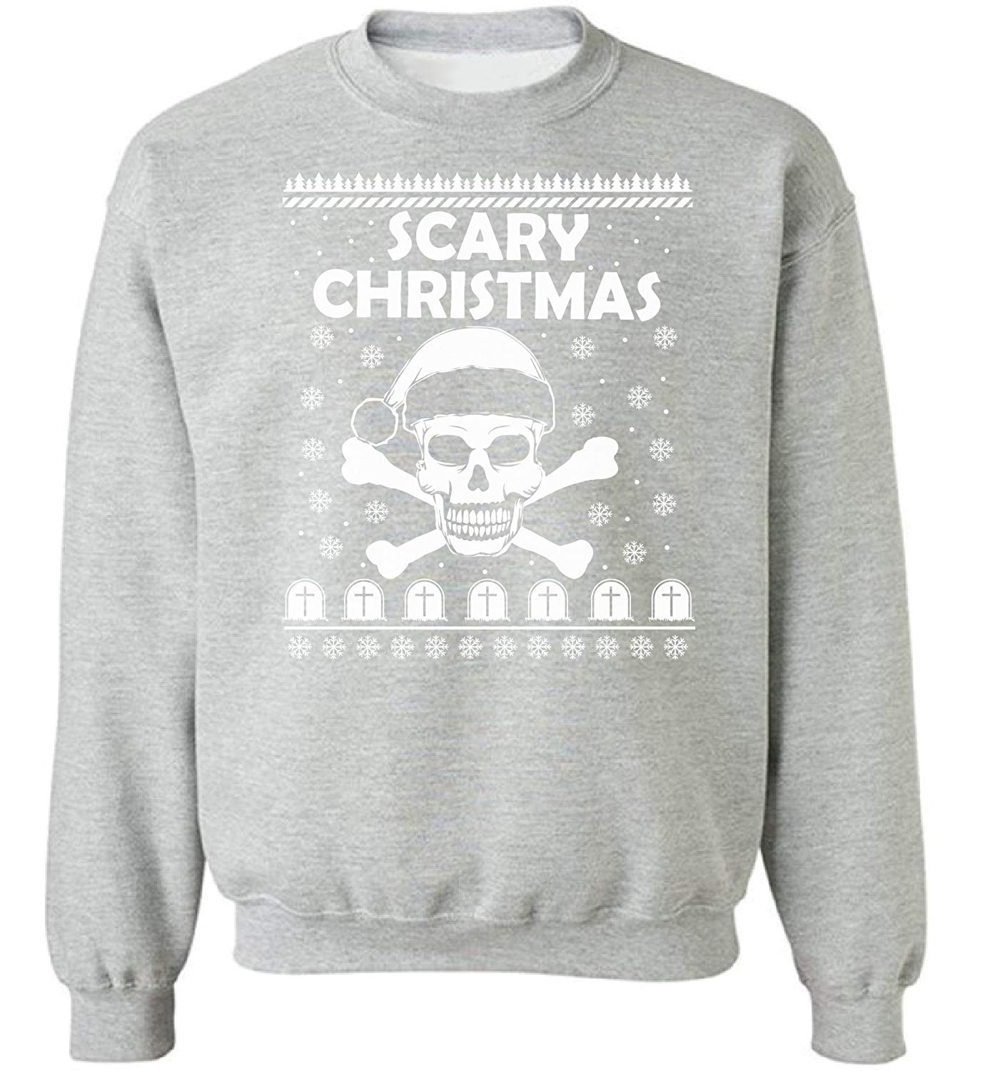 a894cc28 Get Quotations · Raxo Scary Christmas Ugly Christmas sweater Christmas  sweatshirt Scary Christmas sweater Funny Christmas Sweater Party Grey