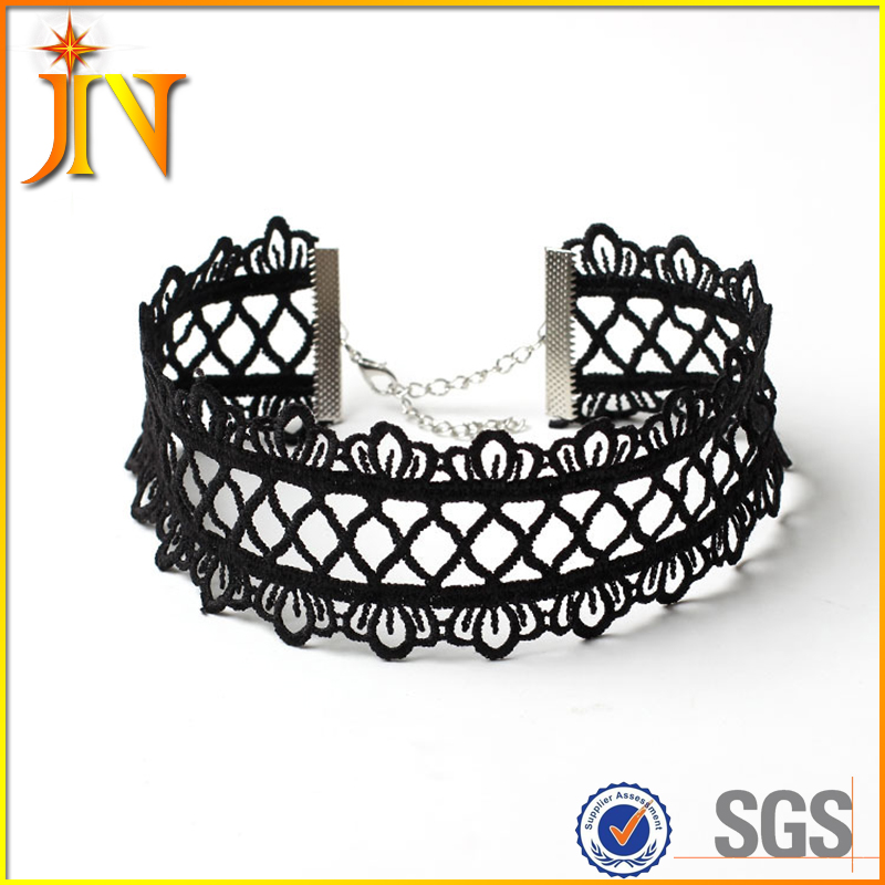 CK0009 JN Hollow out lace black choker necklace women clothing <strong>accessories</strong> Short punk vintage jewelry chokers for women