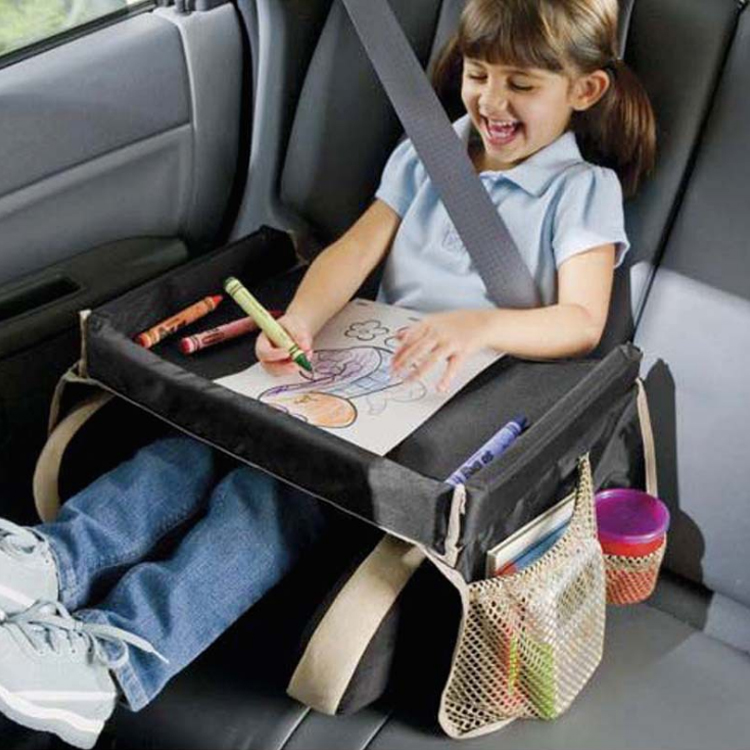Car Back Seat Organizer with Tray for kids baby car Kids Travel Play Lap Tray Bag Tray