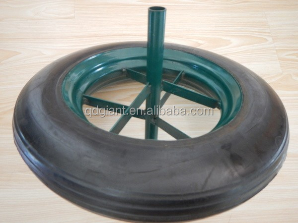 "14"" Heavy Duty Wheelbarrow Solid Rubber Wheels/Tires"