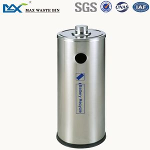 Stainless steel battery recycle bin