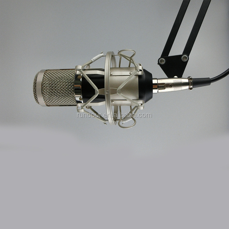 Professional BM800 Microphone 3.5mm Wired Condenser Sound Recording karaoke Microphone with Shock Mount for PC Song Recording