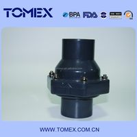 2015 alibaba china manufacture pvc float check valve two way