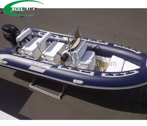 China made cheap semi-rigid hull inflatable rib boat for sale