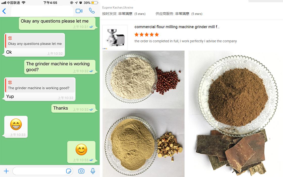Comercial máquina de molienda de harina molino amoladora para grano para uso en el hogar
