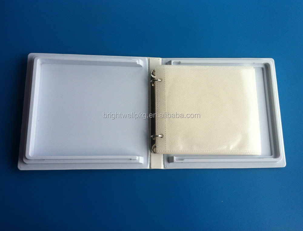 CD/DVD Vinyl Ring Binder for 12CDs