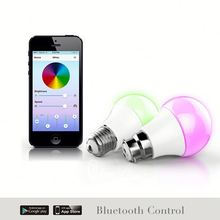 e27 light ,H0T018 bulb wifi controlled colorsled bulb 550 lumens wi-fi control , bluetooth speaker with adjustable led light