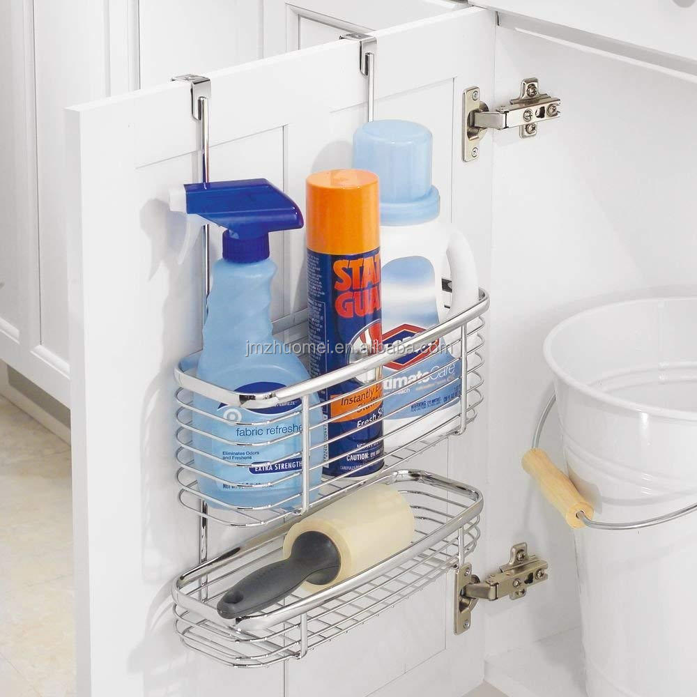 Jiangmen-Over the Cabinet Paper Towel Holder and Storage Shelf - Chrome