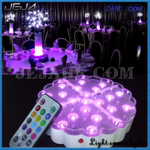 Newest Design Color Changing Led Centerpiece Light For Wedding Table Decoration