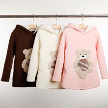 Anos de Manga Longa camisola hoodies casaco engrossar inverno das crianças dos miúdos do bebê meninas