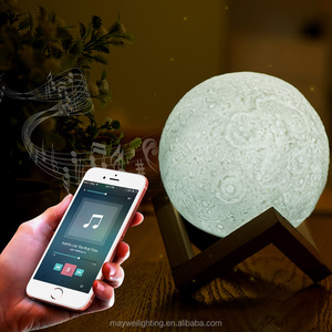 13cm 18cm 3Colors Moon Lamp with Bluetooth Speaker