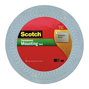 "Scotch Products - Scotch - Double-Coated Foam Tape, 1/2"" x 36 yards, White - Sold As 1 Roll - The perfect solution for mounting light to medium weight objects to walls and other surfaces. - Has high-density, open-cell polyurethane foam, 1/16"" thick, with long-aging adhesive on both sides. - Reduces"