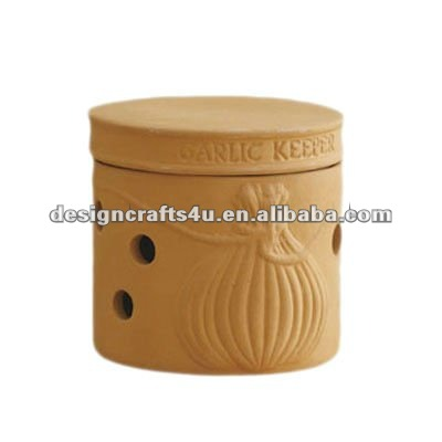 terracotta clay garlic storage containers