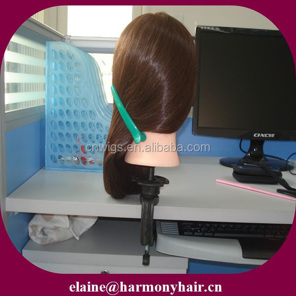 Professional 100% human hair training mannequin head