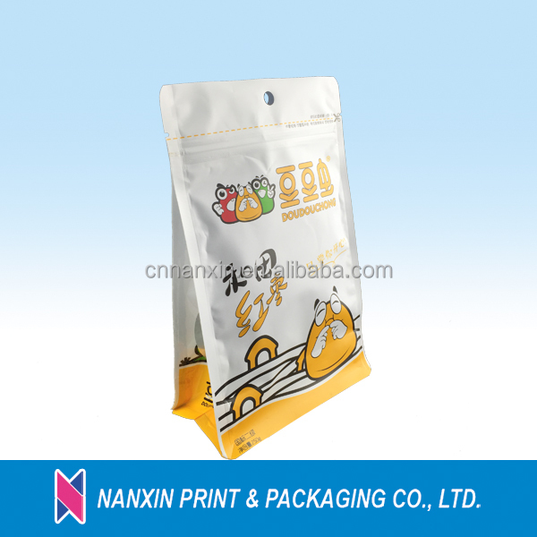 Eco-friendly stand up kraft paper packaing bag