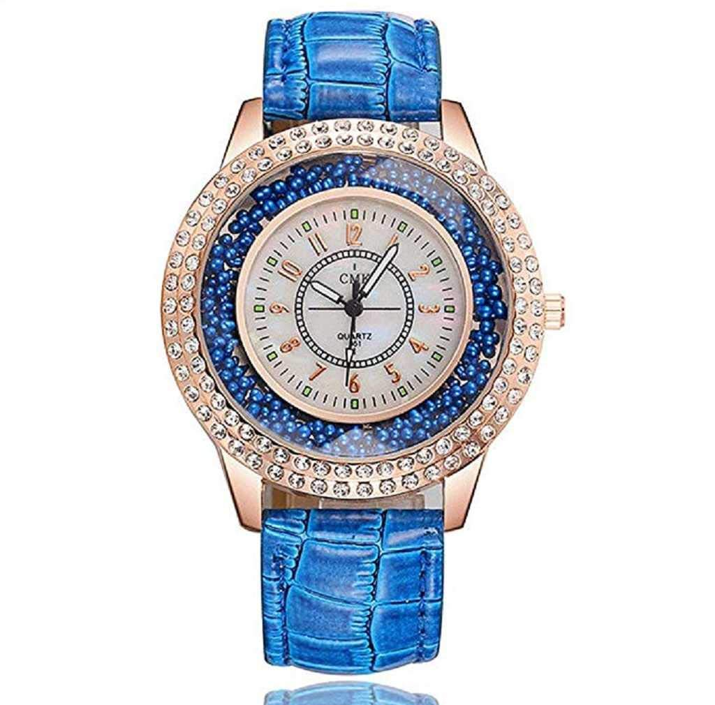 Clearance Sale! Womens Watches,ICHQ Womens Quartz Watches Luxury Diamond Leather Band Watch Teen Girls Casual Crystal Alloy Analog Wrist Watches on Sale (C)