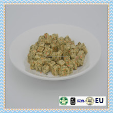 Congelada 100% natural dried dog treats alimentos, vegetais snacks pet