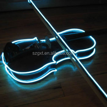 Various Color Cuttable Sewable Costume Glow Wire On Guitar El Wire ...