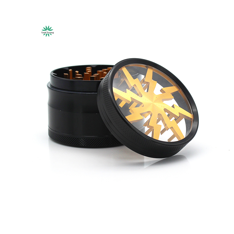 Free Sample Lanchuang 63mm 4 Parts Wholesale Aluminum Alloy   Herb Tobacco  Grinder Weed Best Selling Grinder Weed Custom Logo