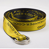 FM Brand Polyester Canvas Waist Belt Letters Custom Jacquard Woven Logo Belts With Double D Ring