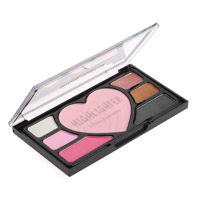 2e4b04c1e Belleza maquillaje contorno polvo Blush marcador 6 colores paleta de sombra  de ojos con forma de