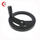 CNC Machine Black Hand Wheel with Revolving Handle for Machine Hand Wheel by Tina Hou