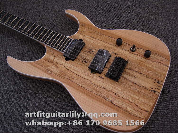 Blackmachine B6 Ash Body Spalted Maple Top Veneer Electric ...
