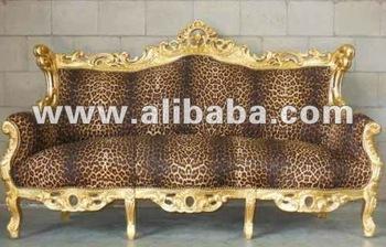 Leopard Sofa Ultra Neo Rococo Modern Silver Baroque Furniture