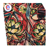 Floral Digital Printed 16mm Elasticity Satin Silk Fabric Stock Lot In Japan For Lady Garment