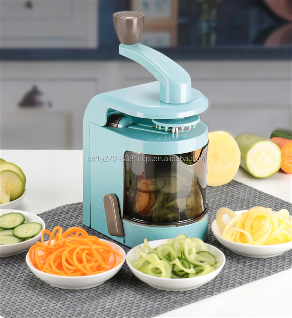 4 Blade Multifunction Spiralizer Vegetable Veggie Pasta Spaghetti Potato Vegetable <strong>Spiral</strong> <strong>Cutter</strong>