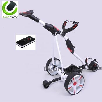 36 Holes Lithium Battery Remote Control Golf Trolley Electric Golf Trolleys  With Powakaddy Fold Design Lcd Digital Handle - Buy Golf Trolley,Electric